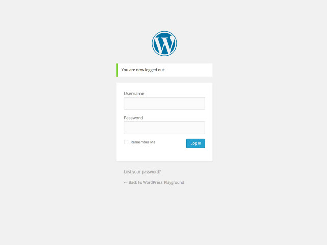WordPress 4.0 Login